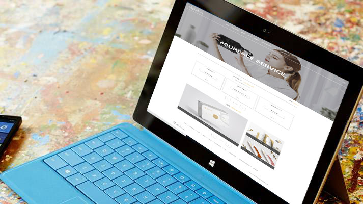 Surface service品牌化妆品外贸网站成功上线